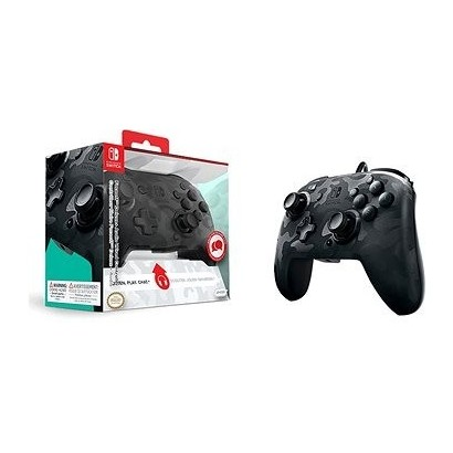 Mando PDP Faceoff Deluxe + Audio Controller negro Switch